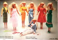 BARBIE FASHION DOLL 7  OUTFITS,PILGRIM SHOES,PURSE SEARS CDA,BOX