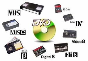 **Video and Audio Transfers** - VHS/VHS-C/8mm/Hi8/MiniDV to DVD!