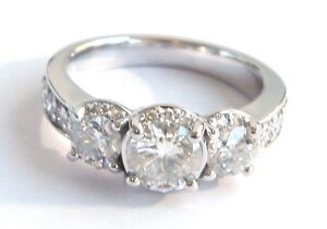 18ct white gold 3 stone diamond ring 2ct total diamond weight Bronte Eastern Suburbs Preview