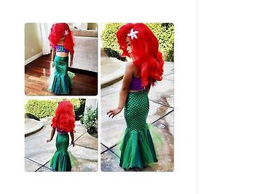 The little mermaid tail princess ariel dress cosplay costume kids for girl fancy](Mermaid Costumes For Little Girls)
