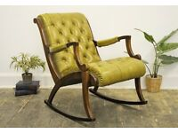 Vintage Chesterfield Rocking Chair