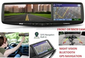 NEW PYLE BLUETOOTH CALLING, BUILT IN GPS, REARVIEW MIRROR WITH C