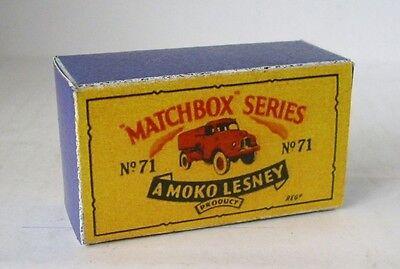 Repro Box Matchbox 1:75 Nr.71 Austin Water Truck