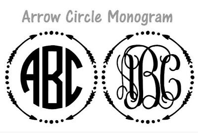 Decal Circle (Arrow Circle Monogram 3