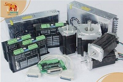【Germany & EU Free 】4Axis Nema23 Wantai stepper motor 425oz-in,3N.m CNC kit