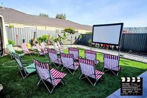 Outdoor Backyard Movie Hire Large Screens from $190 for weekend Campbelltown Campbelltown Area Preview