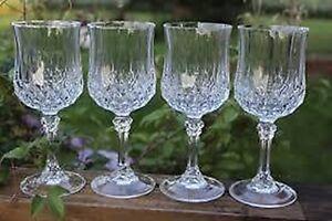 Cristal d'Arques ''Longchamp'' 4 Oz. Wine Glasses (Set of 4)