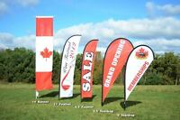 Mobile flags , signs, banners .. light weight !