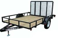 16 ft heavy duty utility trailer.