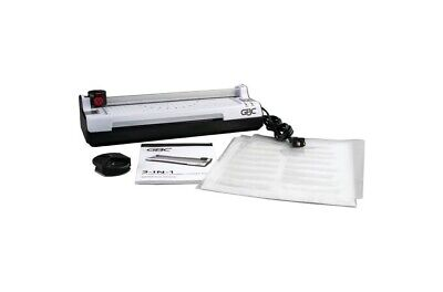 Gbc 3 In 1 Laminator Cutter And Corner Rounder With Laminates 1701888 New