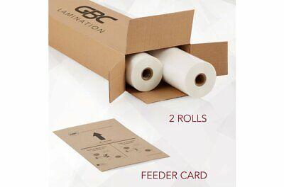 Gbc Standard Laminating Film Roll Gloss 27 X 500 1.5 Mil 2 Rolls