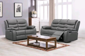 🌜 Roma 3+2 Seater Recliner Bonded Leather Sofa is Available Now 🌻
