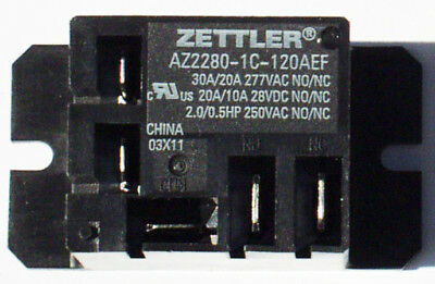 Zettler Mini Power Relay Spdt 120v 30a Az2280-1c-120aef