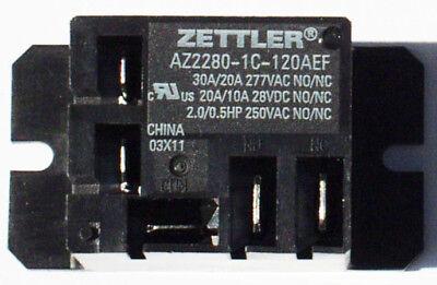 Zettler Mini Power Relay Spdt 120v 30a Az2280-1c-120aef