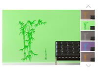 NEW Extra Large and Large Bamboo Scripture Wall Art in Green (2 sets adhesive wall art)