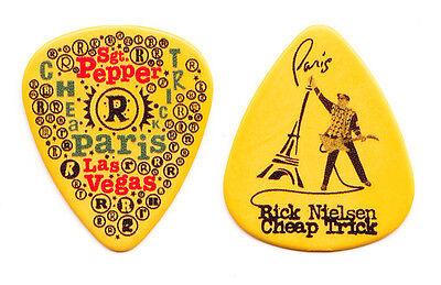 Cheap Trick Rick Nielsen Paris Las Vegas Yellow Guitar Pick #2 - 2010 Tour