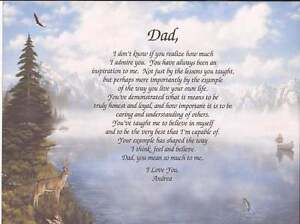 Personalized Poem For Dad Meaningful Gift Choose From 3