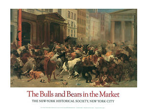 STOCK MARKET ART PRINT The Bulls and Bears - William H. Beard WALL STREET Poster