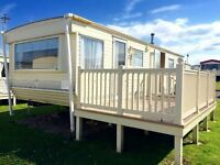 Cheap static caravan for sale, site fees & decking included, isle of wight, Thorness Bay, 12 months