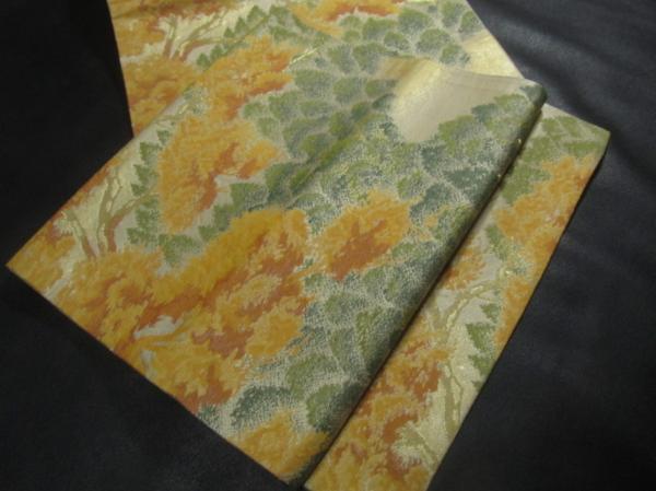Japanese Kimono SILK FUKURO OBI FLOWER LEAF MAPLE (4712-660 YA)