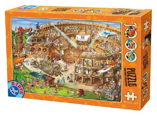 D-Toys 1000 Piece Puzzle - Cartoon Collection The Colosseum