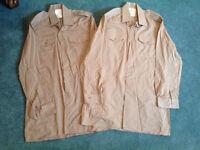 British Army No.2 Dress Shirts x 2