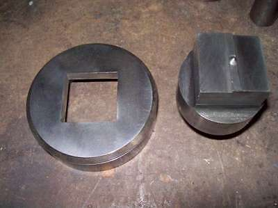 1.5 Inch Square Whitney Punch Die Set Same As Used In Diacro Press