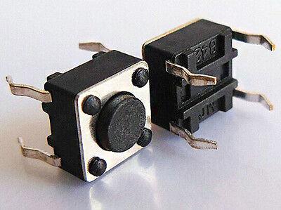 10pcs 6x6x4.5 Mm Momentary Tactile Push Button Switch Spst Miniaturemini Pcb