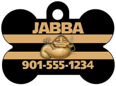 Disney Jabba the Hutt Custom Pet Id Dog Tag Personalized w/ Name & Number (Jabba The Hutt Pet)