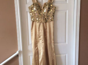 LONG GOLD DRESS FOR SALE