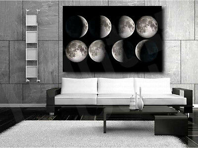 - Moon Phases Collage Black and White Canvas Art Poster Print Home Wall Decor