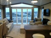Stunning caravan to rent with sea views