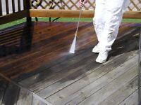 """Power washing deck staining """