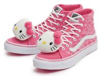 hello kitty canvas vans size 5 1/2 you can take off the kittys on the front if you wanted to