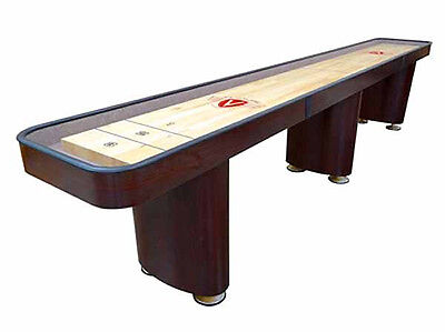 Venture 9 Foot Challenger Shuffleboard Table  choice Of Maple Or Mahogany Finish