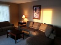 Ft. Saskatchewan fully furnished 2 bdrm + 2 bath condo