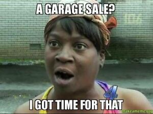Rain Can't Stop This Indoor Garage Sale (Thorburn, Airdrie)