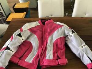 Lady's Pink Motorcycle Jacket