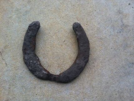 Very Old Large Rustic Horseshoe Garden House Ornament Warrenup Albany Area Preview
