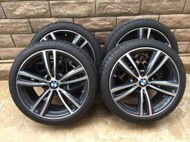 Amazing Original BMW M-SPORT 19 Inch Alloy Wheels as New PIRELLI Run Flat Tyres Perfect Condition