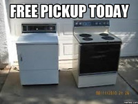 FREE PICKUP & FREE REMOVAL TODAY OF SCRAP METAL & APPLIANCES