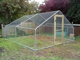 Garden Life 4m wide Pet Run, extra tall (2m) side poles. Price new £500, now £150 (without mesh).