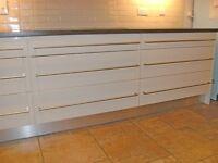 Brand New - 1.5 metres x 2 Aluminium Effect Kitchen Kickboard / Plinth - 15cm wide