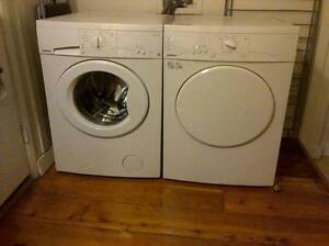 """USED MOFFAT 24"""" APRTMENT SIZE FRONT LOAD WASHER DRYER SET."""