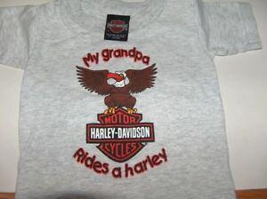 Harley Davidson My Grandpa Rides A Harley T Shirt London Ontario image 1