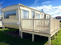 Cheap static caravan for sale, site fees & decking included