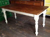 Pine Dining Table- Shabby Chic