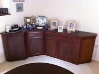 William Lawrence & Co. ;Cameo Collection; sideboard cabinets. Mahogany 1988.