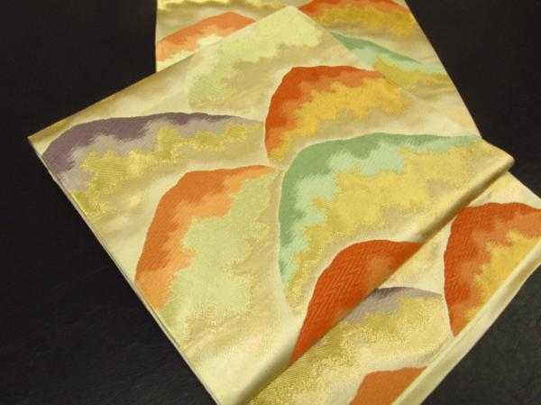 Japanese Kimono SILK FUKURO OBI MOUNTAIN (FO4006-810 YA)