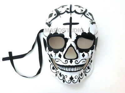 Sugar Skull Cross Heart Mask Day of the Dead costume party Full Face Skeleton